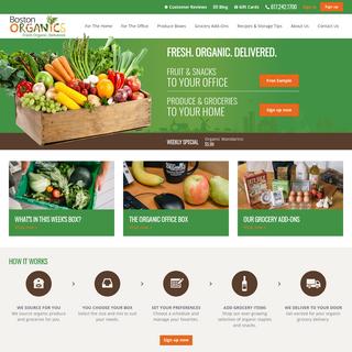 Boston Organics - Organic Produce & Grocery Delivery