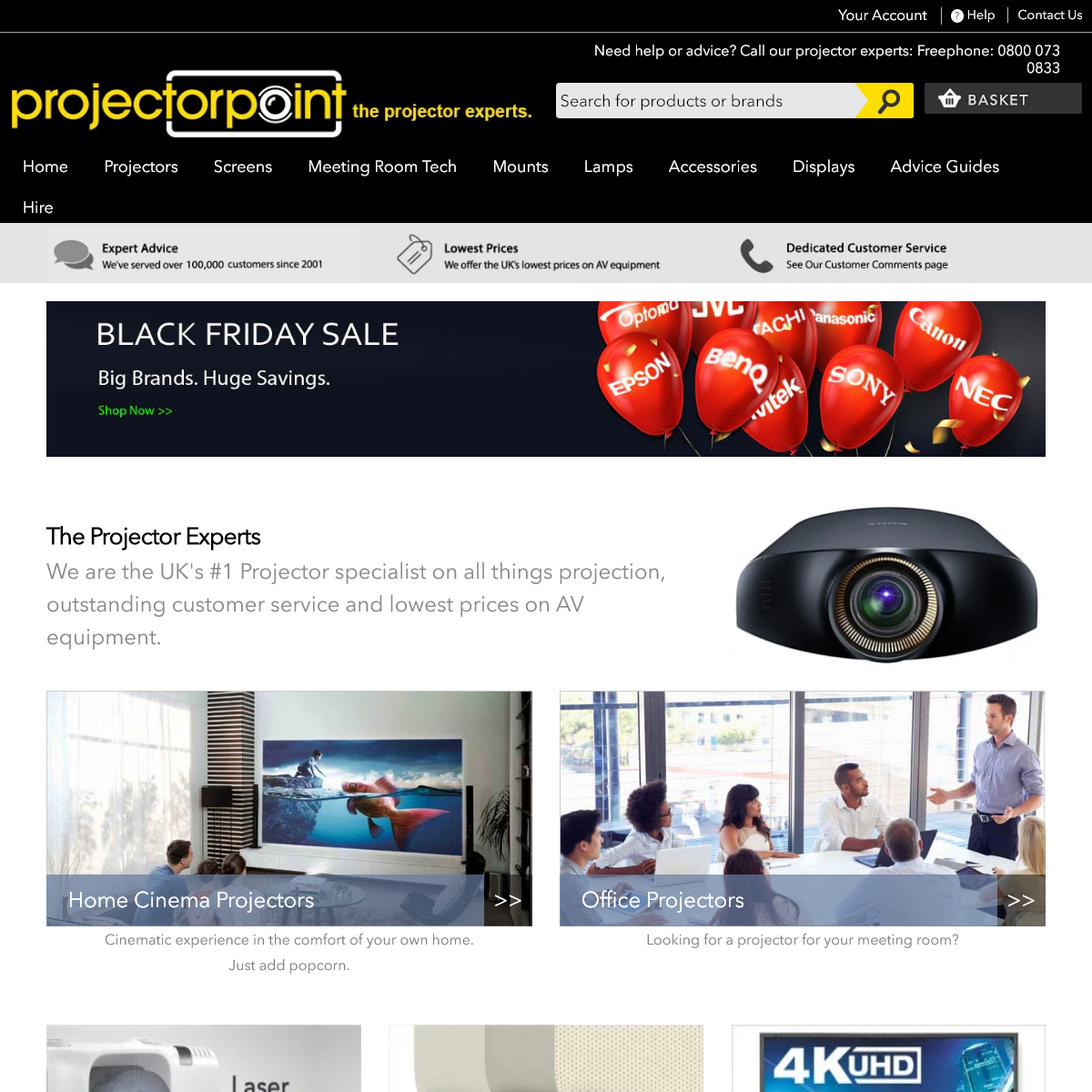 Projectorpoint - The UK`s leading Projector Specialists since 2001