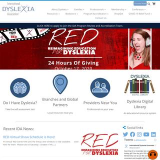 International Dyslexia Association - …until everyone can read!