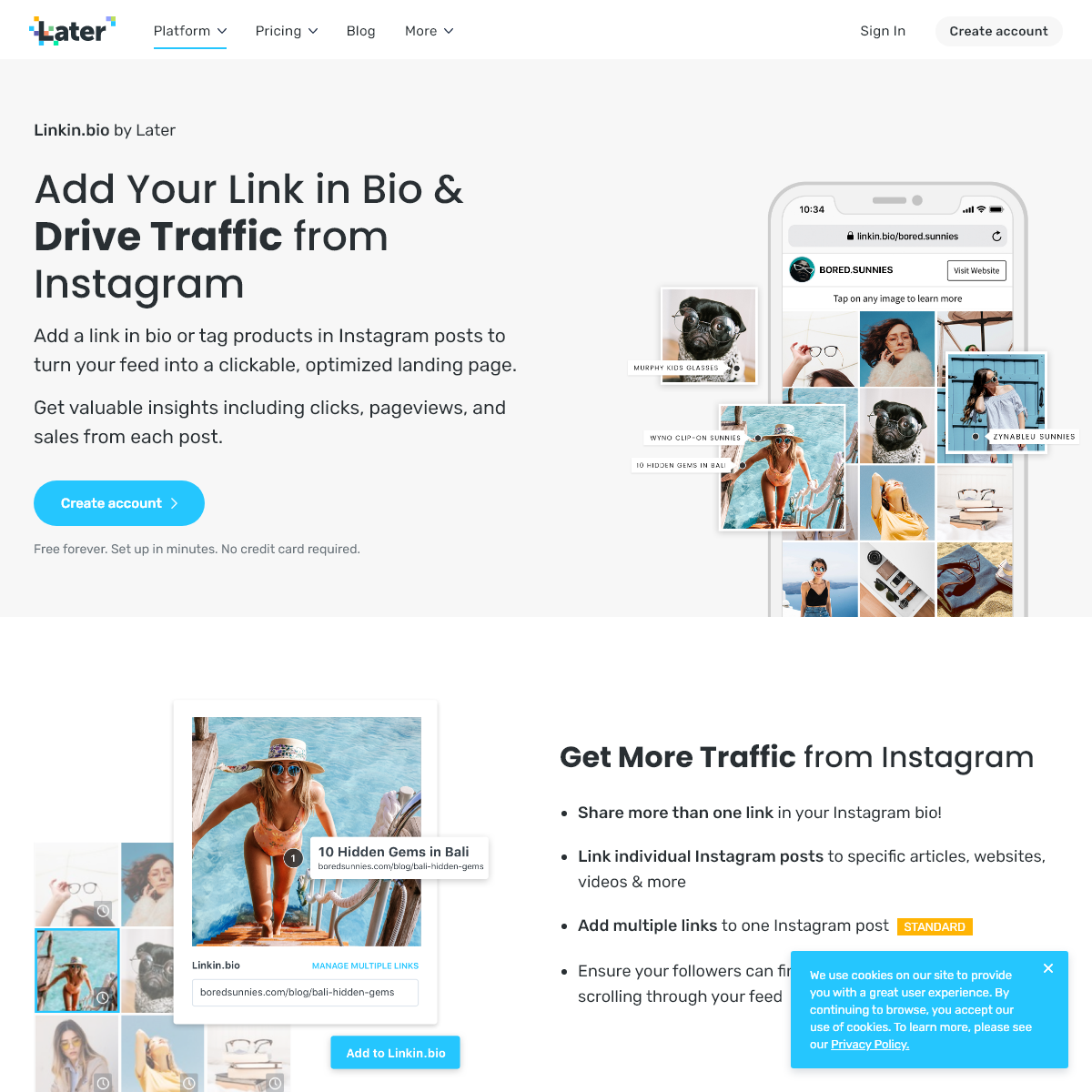 Linkin.bio by Later- Drive Traffic and Revenue with Link in Bio