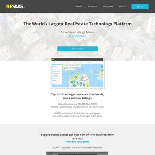 RESAAS - The World`s Largest Real Estate Technology Platform
