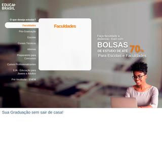 Bolsas de Estudo de até 70- para Faculdades e Escolas - Educa Mais Brasil