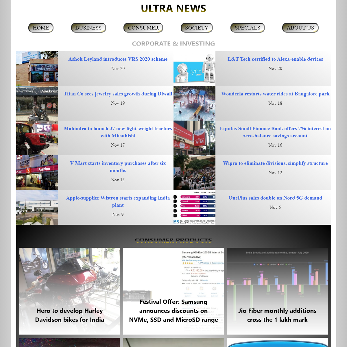 HOME - Ultra News