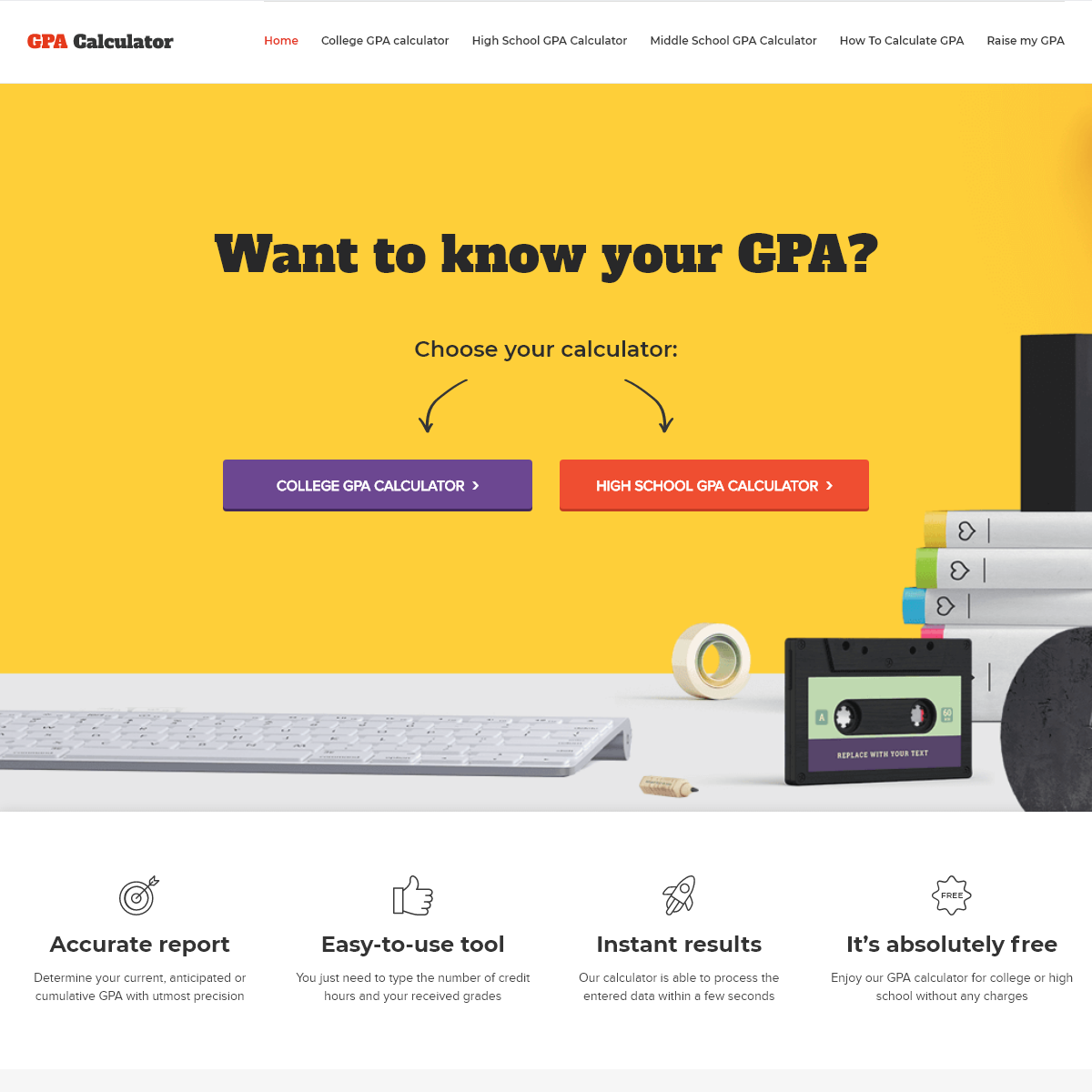 Accurate GPA Calculator- Calculate your Grade Point Average Online
