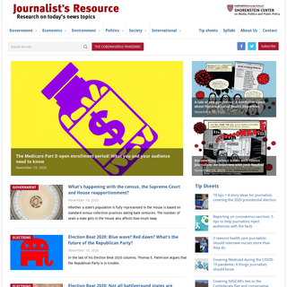 Journalist`s Resource - research on today's news topics