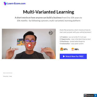 Short Movie- Multi-Varianted Learning