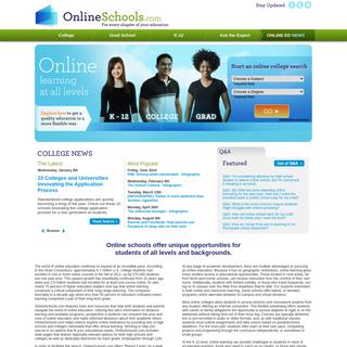 Online Schools - K-12, Colleges and Grad Schools