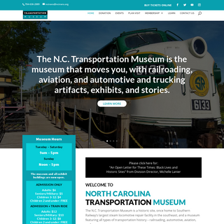 NC Transportation Museum - Just another WordPress site