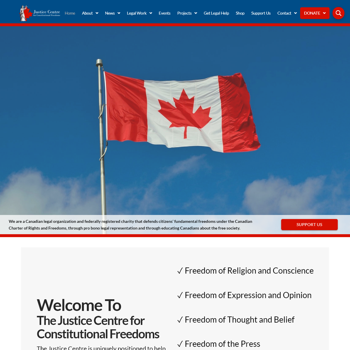 Legal Advocacy in Canada - Justice Centre for Constitutional Freedoms
