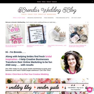 Brenda`s Wedding Blog - Fresh Ideas for Creative Weddings