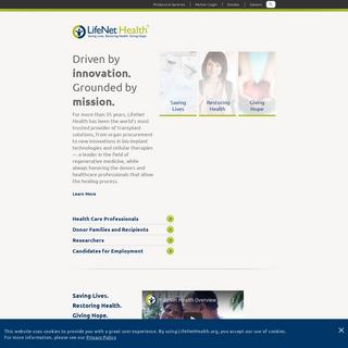 LifeNet Health - Global Leader in Allograft Biologics and Regenerative Medicine
