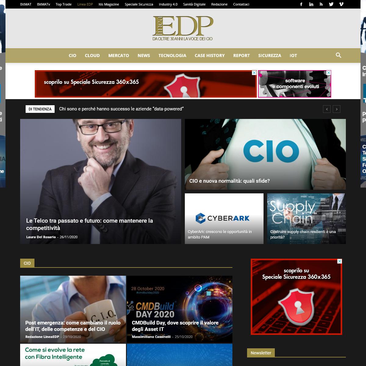 LineaEDP la rivista di riferimento per CIO, Mercati e Tecnologia