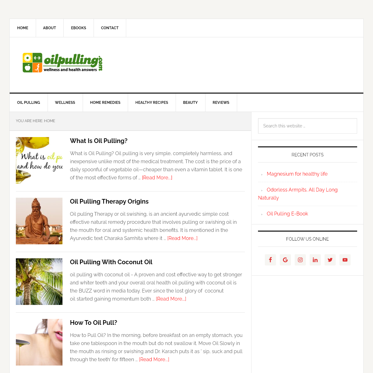 Oil Pulling, Wellness and Health Answers - Wellness and Health News, Original oil pulling site since 2004