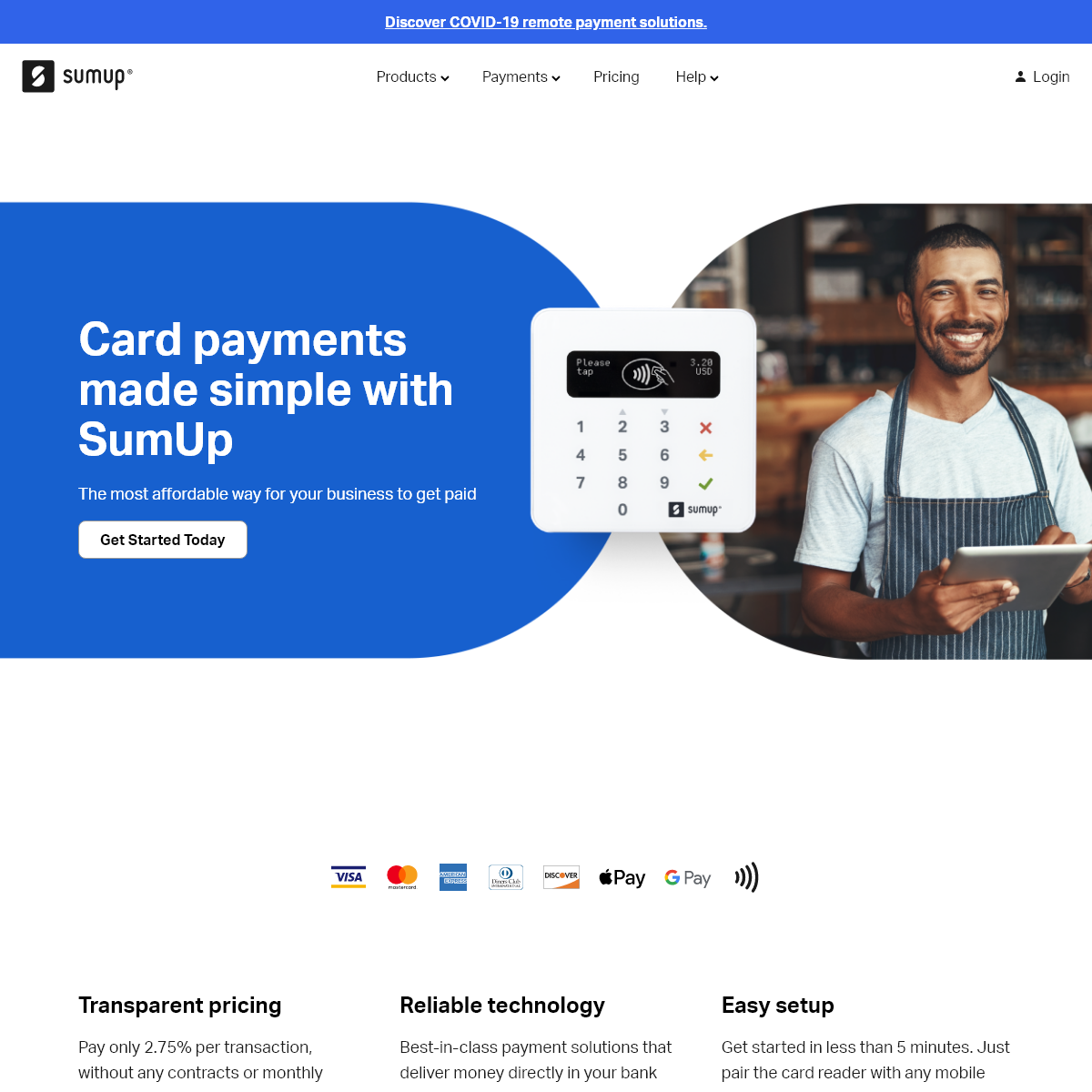 SumUp Card Readers for Small Businesses - Accept Credit, Debit and Contactless Payments