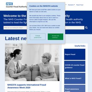 Welcome to the NHS Counter Fraud Authority (NHSCFA) public website - NHS Fraud- See it. Stop it. Report it.