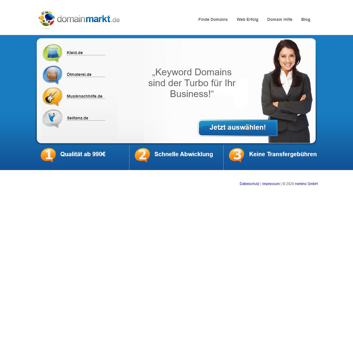 domainmarkt.de Einfach gute Domains!