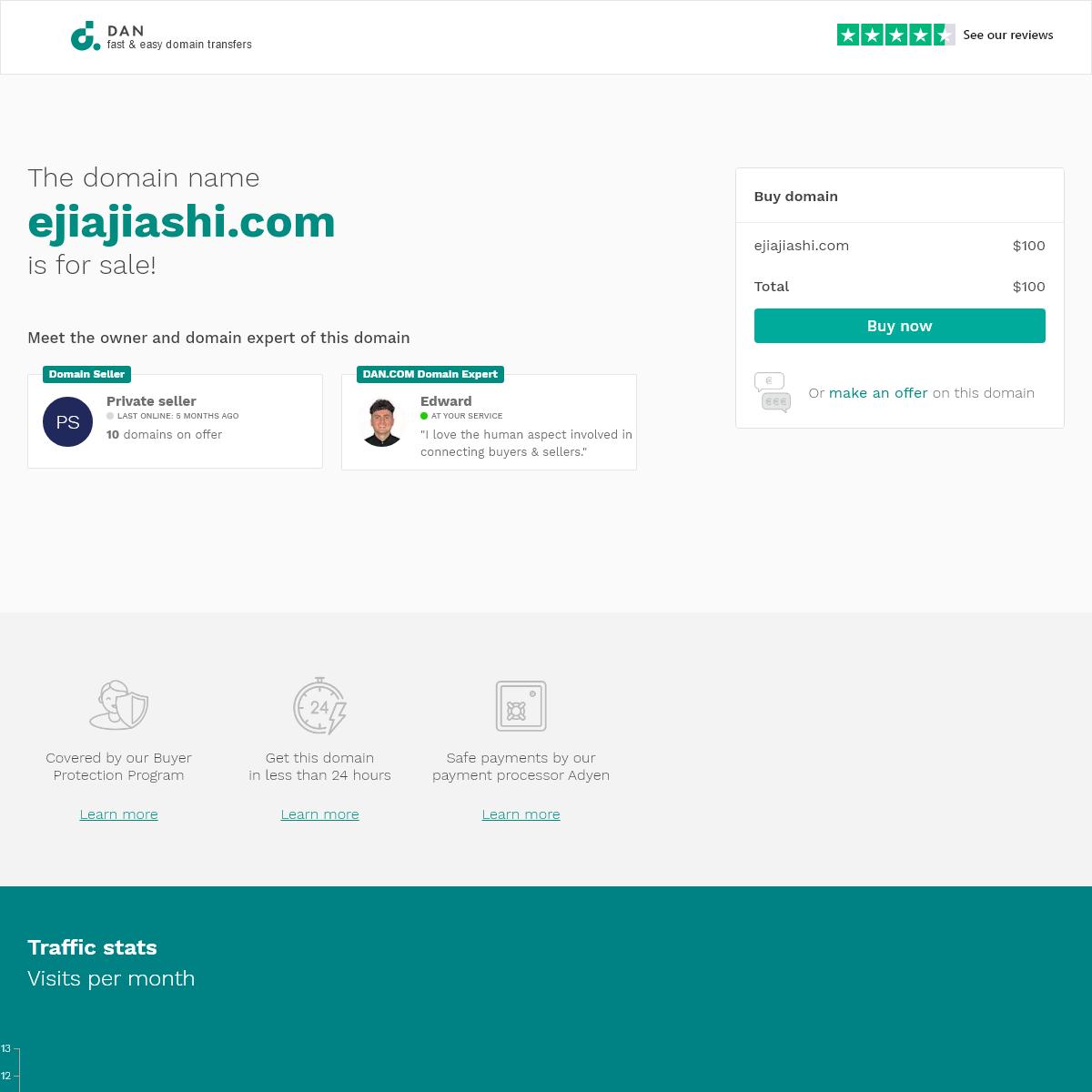 The domain name ejiajiashi.com is for sale