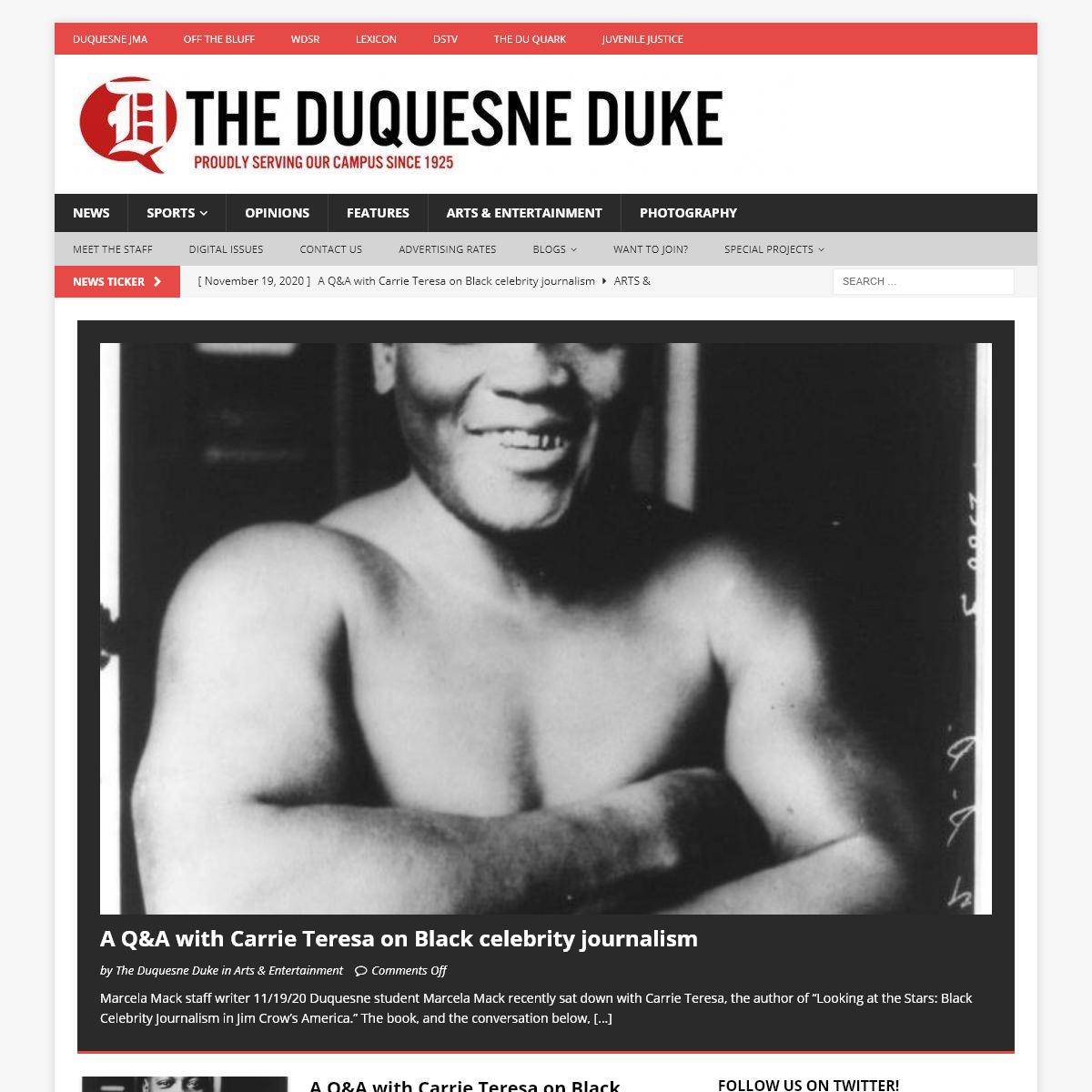 Home • The Duquesne Duke