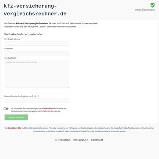 kfz-versicherung-vergleichsrechner.de zu verkaufen
