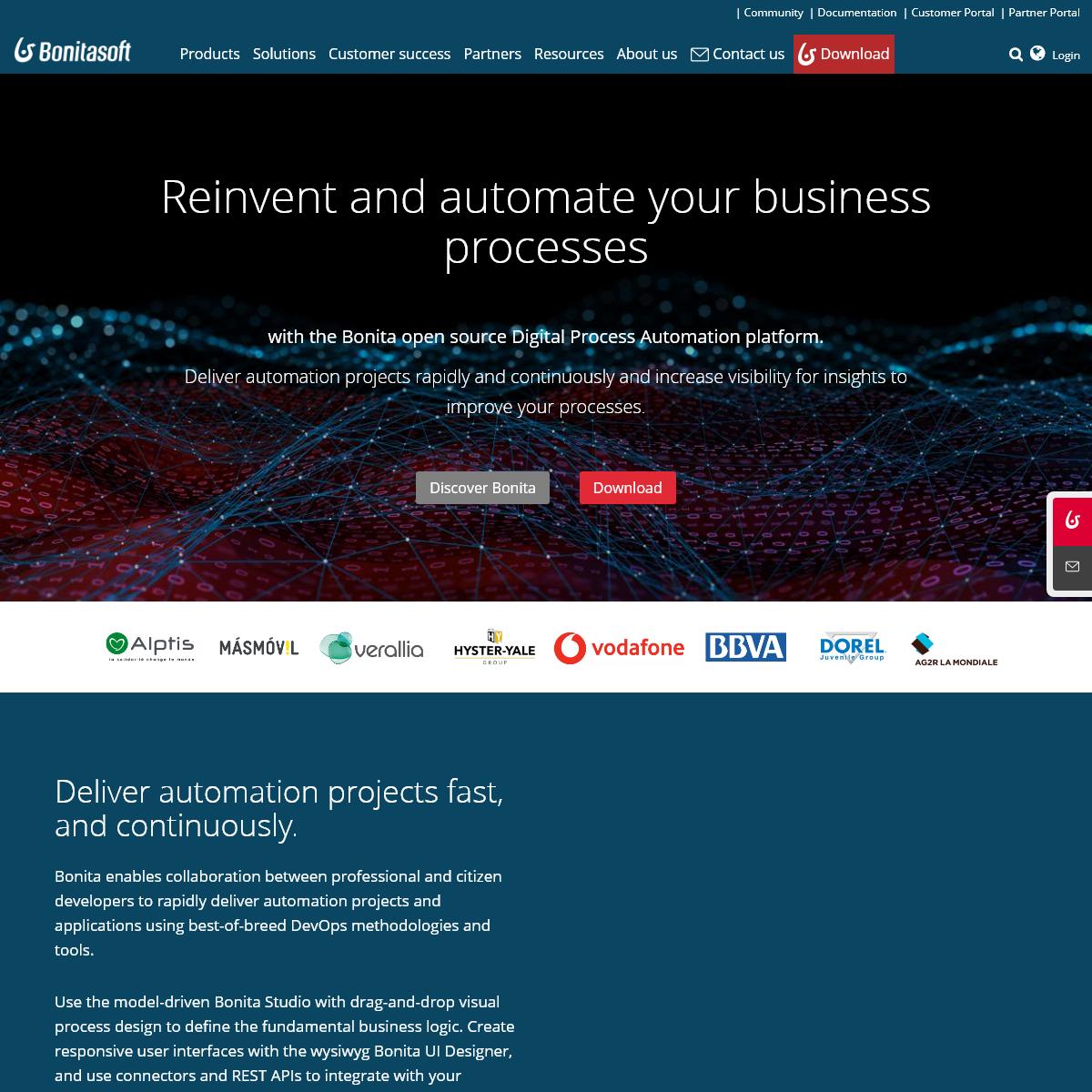 Bonitasoft - open-source Business Process Automation platform - BPM