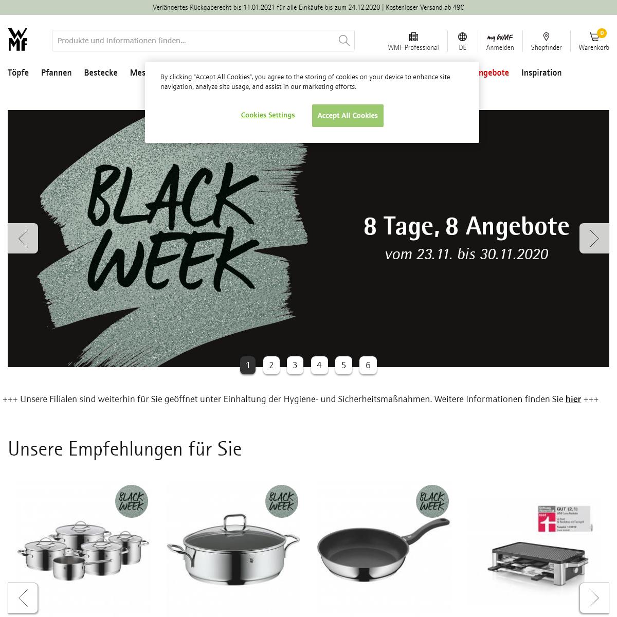 Bestecke, Kochtöpfe und Elektrogeräte von WMF