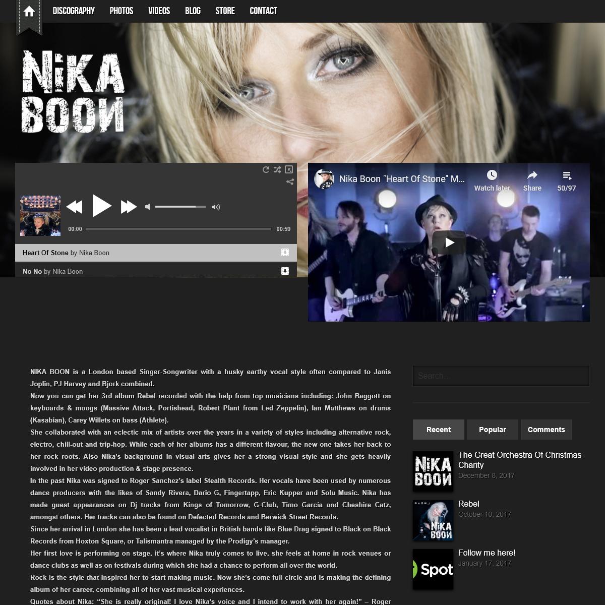 Official Website - Nika Boon