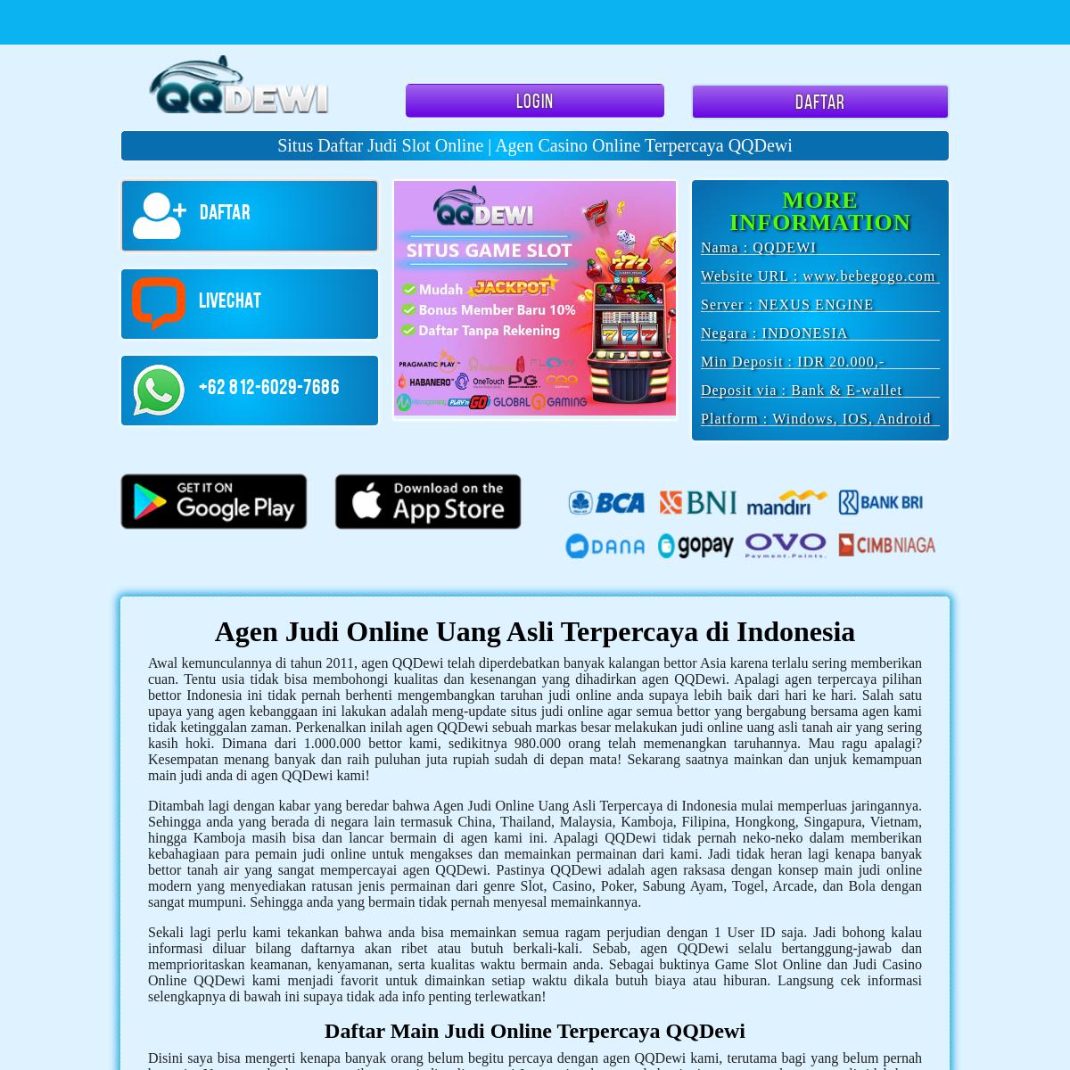 Situs Daftar Judi Slot Online - Agen Casino Online Terpercaya QQDewi