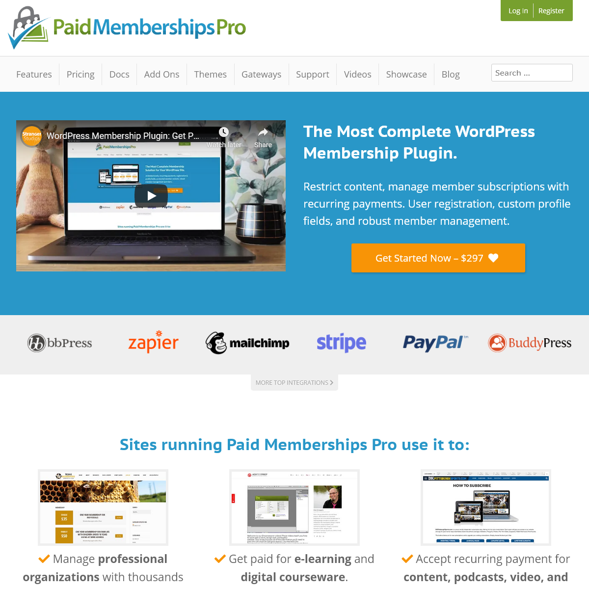 WordPress Membership Plugin and Subscriptions Platform