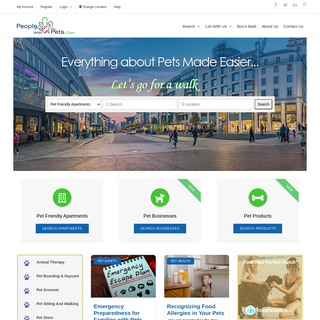 National Directory of Pet Friendly Apartments and Services - PeopleWithPets.com