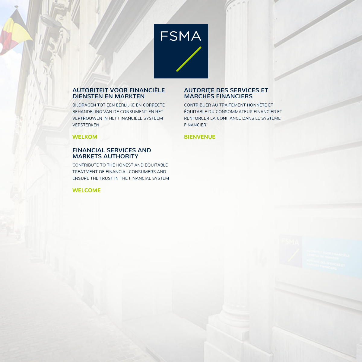 FSMA - Financial Services and Markets Authority