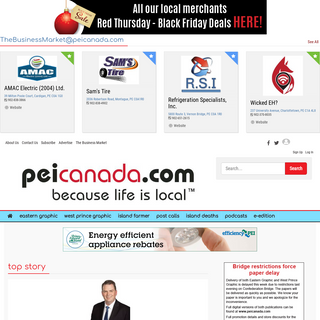 peicanada.com - Because Life Is Local ™