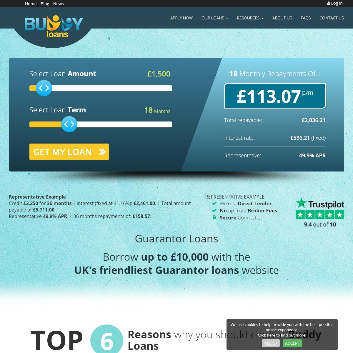 Guarantor Loans, Direct Lender £1,000-£10,000 - buddyloans.com