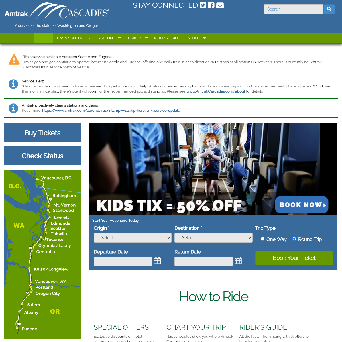 Home Page - Amtrak Cascades