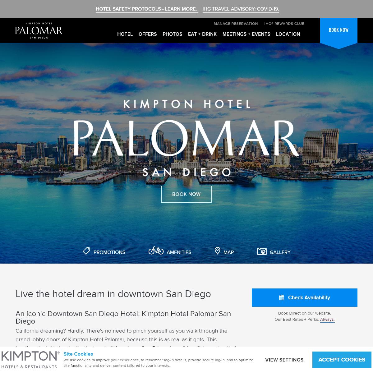 Downtown San Diego Hotels - Kimpton Palomar Hotel San Diego