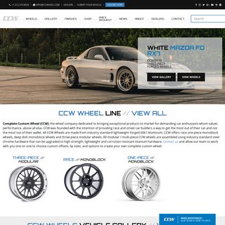 CCW Wheels - Forged Monoblock, Two-Piece And Three-Piece Wheels