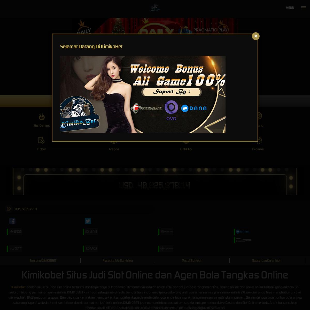 Kimikobet Situs Judi Slot Online dan Agen Bola Tangkas Online