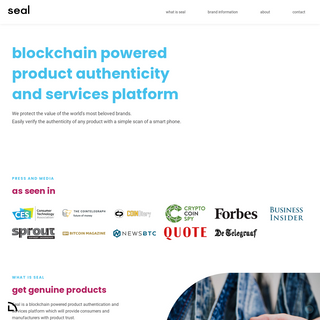 Seal - Blockchain powered product authentication
