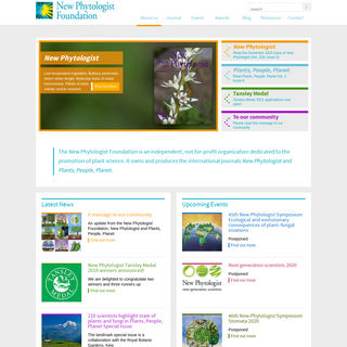 New Phytologist Foundation - an independent charity dedicated to the promotion of plant science