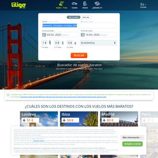 Comparador de vuelos baratos - Buscador Liligo.com
