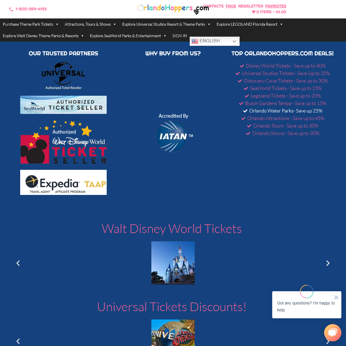 Orlando Hoppers - #1 Authorized Theme Parks Tickets, Attractions, Shows & Tours Ticket Reseller In Florida - OrlandoHoppers.com