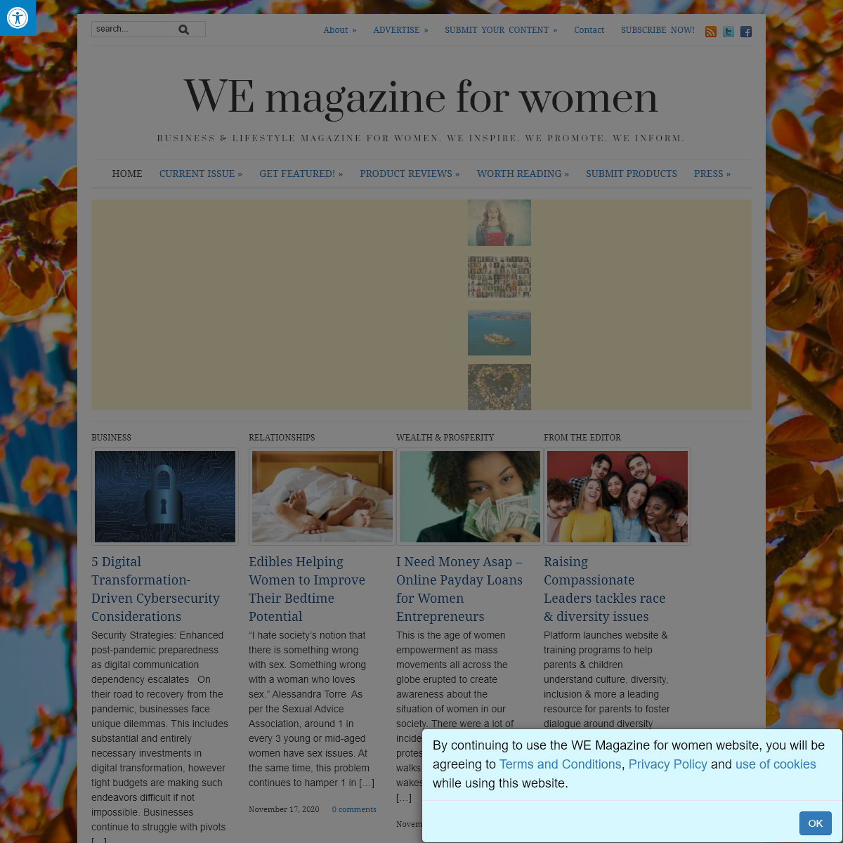 WE magazine for women - Business & Lifestyle Magazine for Women. WE Inspire. WE Promote. WE Inform.