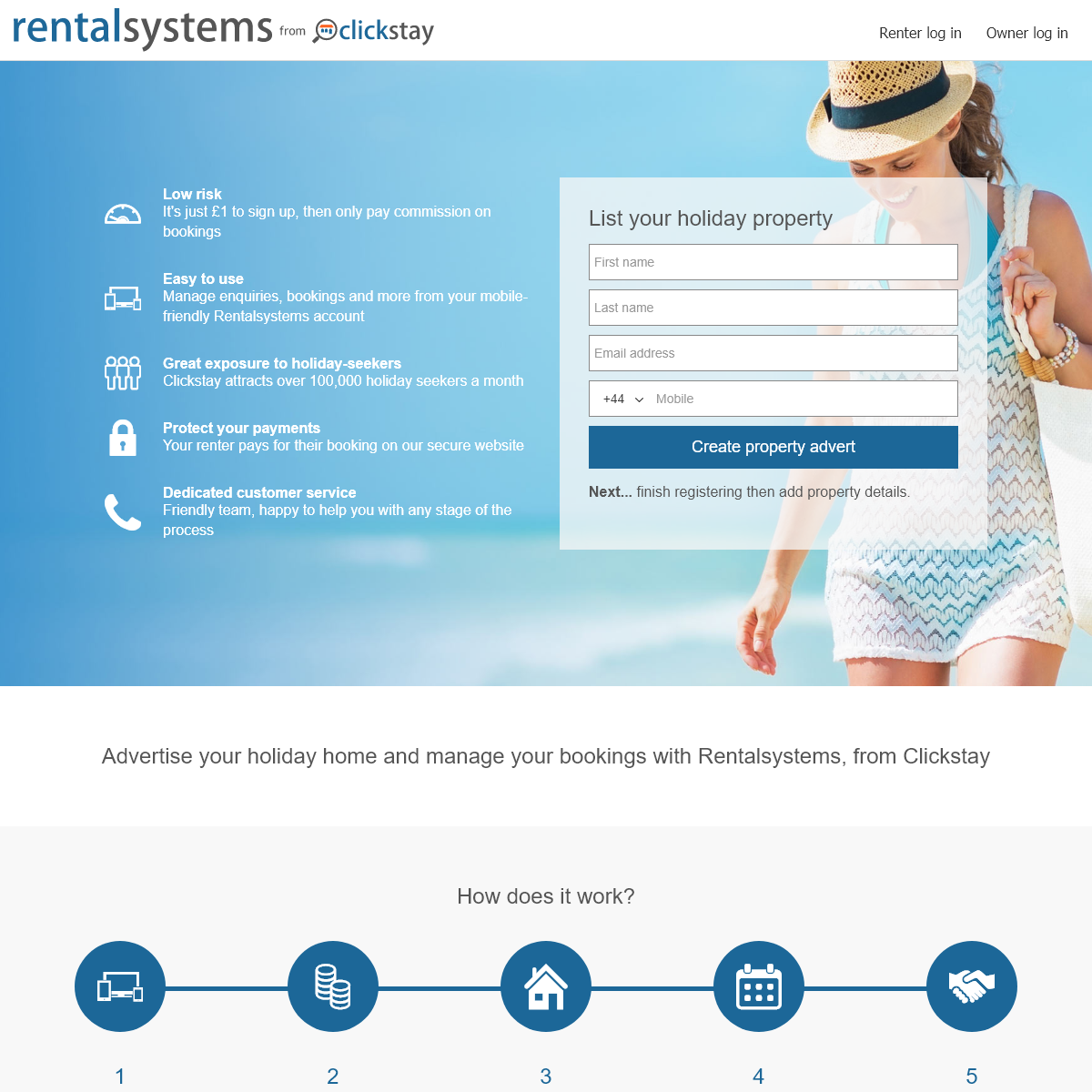 Property management and online booking system - Rentalsystems
