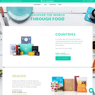 Try The World - Food subscription box from around the world