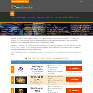 Casino Guardian - Best Online Casino Sites in UK