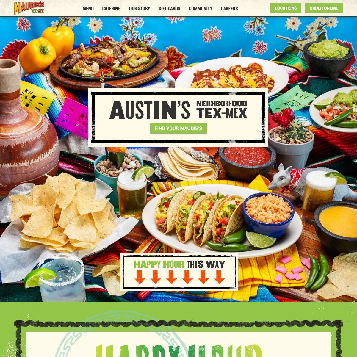 Maudie`s Tex-Mex - Enjoy True Tex-Mex At Your Neighborhood Mexican Restaurant