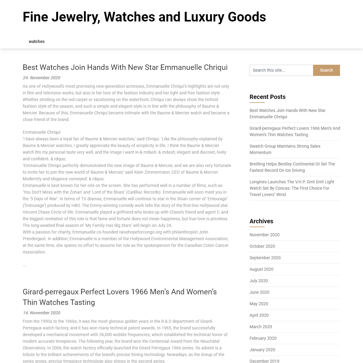 Fine Jewelry, Watches and Luxury Goods