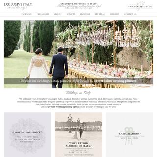 Weddings in Italy, Italian Wedding Planner - Exclusive Italy Weddings