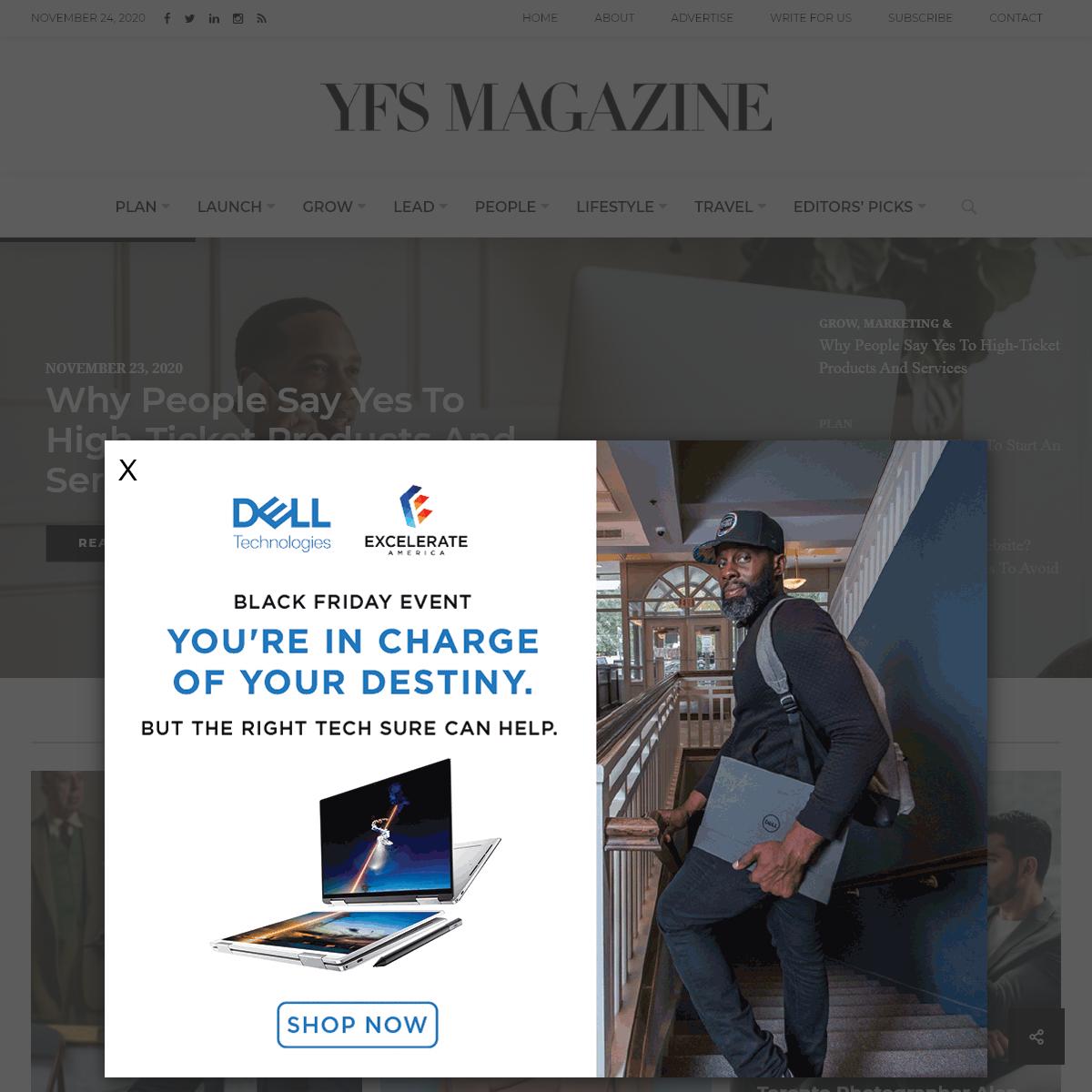YFS Magazine – Young, Fabulous & Self-Employed