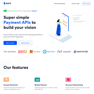 Wyre - Payment APIs to launch your business faster