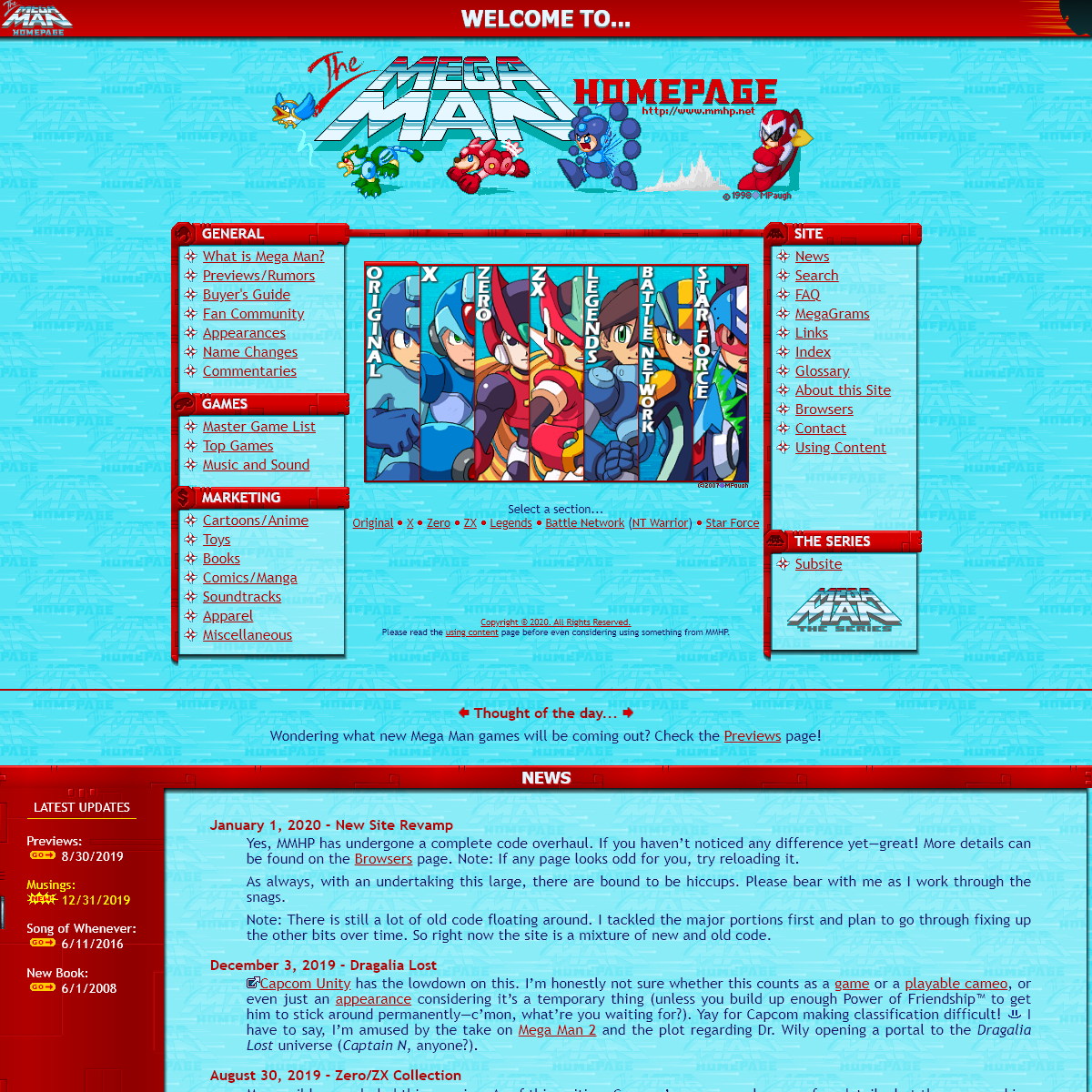 The Mega Man Home Page